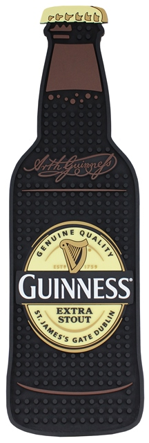 Guinness Bottle ShapePVC Bar Mat